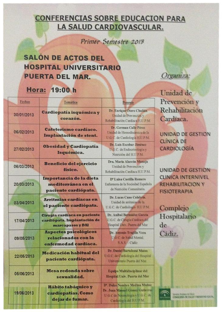 La UGC de Rehabilitación fomenta la educación sanitaria y la prevención en torno a la salud cardiovascular